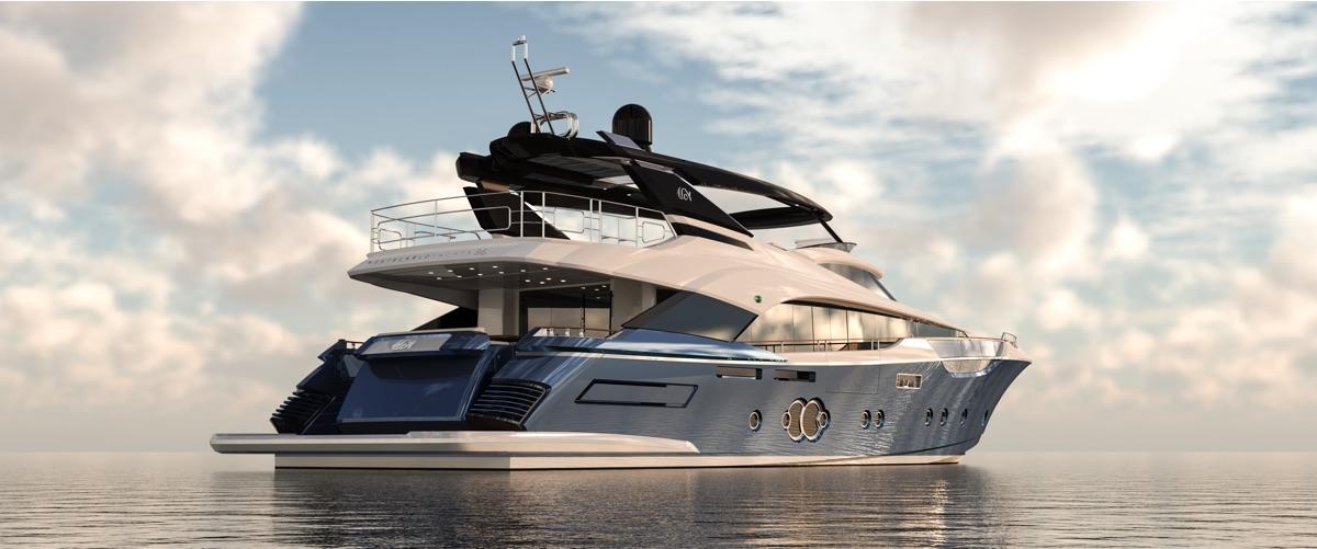 Monte Carlo Yachts 96 in navigazione